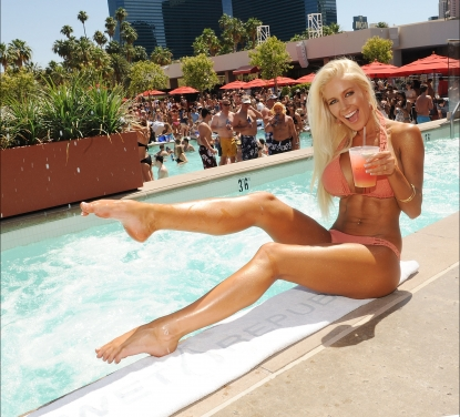 Heidi Montag hosts a pool party at Wet Republic in Las Vegas on June 18, 2011