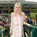 Dakota Fanning is spotted at the Evian VIP Suite at Wimbledon in London on June 20, 2011