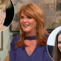 Sarah Ferguson stops by Access Hollywood Live on June 20, 2011 / inset top: Princess Diana, inset bottom: Princess Catherine