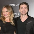 "Justin Timberlake and Cameron Diaz are all smiles at the premiere of ""Bad Teacher"" at the Ziegfeld Theatre in New York City on June 20, 2011"