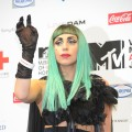 Lady Gaga speaks at the MTV Video Music Aid Japan Press Conference at Billboard Live Tokyo in Tokyo on June 23, 2011