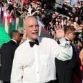 "John Malkovich waves to fans at the world premiere of ""Transformers 3: Dark Of The Moon"" at the Moscow Film Festival in Moscow, Russia on June 23, 2011"