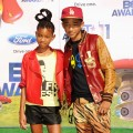 Willow Smith and Jaden Smith arrive at the BET Awards &#8216;11 held at the Shrine Auditorium in Los Angeles on June 26, 2011 