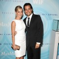 Julie Benz and Rich Orosco arrive at the The 2011 Crystal + Lucy Awards at The Beverly Hilton hotel, Beverly Hills, on June 16, 2011