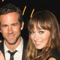 Ryan Reynolds and Olivia Wilde are all smile at the Details Magazine/ Ryan Reynolds Party held at Dominick&#8217;s Restaurant in Los Angeles on June 6, 2011 