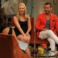 Melissa Joan Hart and Joey Lawrence share a laugh on Access Hollywood Live on June 29, 2011 