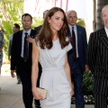 Duchess Kate arrives at the Beverly Hills Hotel in a lavender Peridot dress by Roksanda Ilincic, July 8, 2011