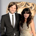 Ben Gibbard and Zooey Deschanl arrive at the 2011 BAFTA Brits To Watch Event at the Belasco Theatre in Los Angeles on July 9, 2011