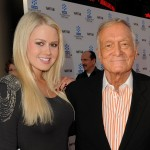Miss January Anna Sophia Berglund and Hugh Hefner step out at Day 1 of TCM Classic Film Festival 2011 in Los Angeles on April 28, 2011 