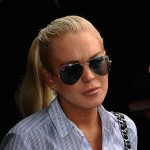Lindsey Lohan arrives for a probation hearing at the Airport Branch Courthouse in Los Angeles on June 23, 2011