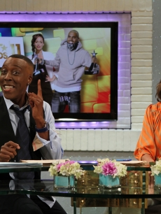Kit Hoover is joined by guest co-host Arsenio Hall on Access Hollywood Live on June 27, 2011