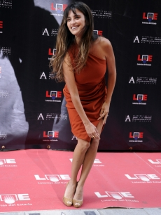 Penelope Cruz poses for photographers during the opening of the Streets of Stars in center of Madrid on June 2, 2011