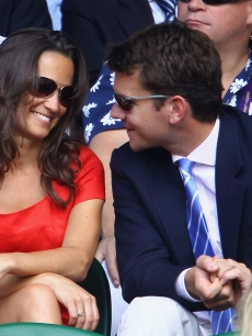 Pippa Middleton and Alex Loudon are all smiles at Wimbledon Lawn Tennis Championships at the All England Lawn Tennis and Croquet Club in London on June 29, 2011