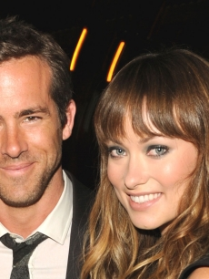 Ryan Reynolds and Olivia Wilde are all smile at the Details Magazine/ Ryan Reynolds Party held at Dominick's Restaurant in Los Angeles on June 6, 2011