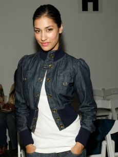Janina Gavankar at rehearsals for the Farah Angsana Fall 2008 fashion show during Mercedes-Benz Fashion Week held at Smashbox Studios, Los Angeles, on March 13, 2008