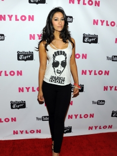 Janina Gavankar arrives at NYLON Magazine's May Young Hollywood Issue Celebration at Bardot, Hollywood, on May 4, 2011