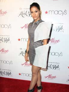 "Janina Gavankar arrives at the Los Angeles Times Magazine's music and fashion event ""Rock Style"" held at the Hollywood Roosevelt Hotel, Hollywood, on June 1, 2011"