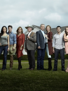 "Jordana Brewster, Josh Henderson, Linda Gray, Larry Hagman, Patrick Duffy, Brenda Strong, Jesse Metcalfe and Julie Gonzalo star in ""Dallas,"" set to premiere on TNT in summer 2012"