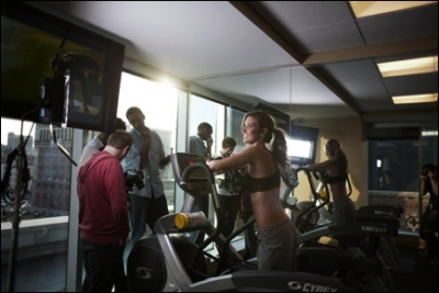 "Audrina Patridge gets in some cardio while filming YOBI.tv web series, ""Dream Maker"" in Detroit, 2011"