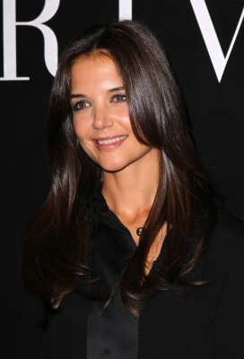 Katie Holmes attends the Giorgio Armani Prive Haute Couture Fall/Winter 2011/2012 show as part of Paris Fashion Week at Palais de Chaillot, Paris, on July 5, 2011