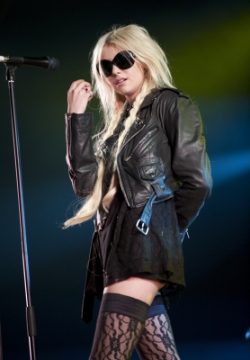 Taylor Momsen performs on stage during the Day 3 of T In The Park Festival 2011 at Balado in Kinross, England on July 10, 2011