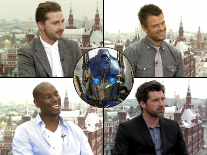 "The stars of ""Transformers: Dark of the Moon"" chat with Access Hollywood"