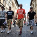 "The boys of the ""Jersey Shore"" step out in Italy"