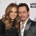 Jennifer Lopez and Marc Anthony arrive at the Montblanc Cocktail Party co-hosted by Harvey and Bob Weinstein celebrating the Weinstein Company's Academy Award Nominees at Soho House in West Hollywood on February 26, 2011