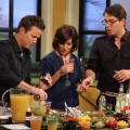 Billy Bush and Kit Hoover make the perfect summer margarita with Mark Addison on Access Hollywood Live on July 19, 2011