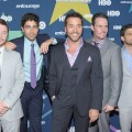 Kevin Connolly, Adrian Grenier, Jeremy Piven, Kevin Dillon and Jerry Ferrara bond for one last time at the final season premiere of &#8220;Entourage&#8221; in New York City on July 19, 2011