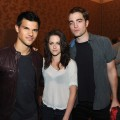 "Taylor Lautner, Kristen Stewart and Rob Pattinson attend the Summit Entertainment ""The Twilight Saga: Breaking Dawn - Part 1"" press conference at the Hilton Bayfront during Comic-Con in San Diego, Calif., on July 21, 2011"