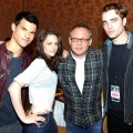 "Taylor Lautner, Kristen Stewart, Director Bill Condon and Robert Pattinson attend Summit Entertainment presents ""The Twilight Saga: Breaking Dawn - Part 1"" Press Conference as Comic-Con 2011 in San Diego on July 21, 2011"