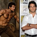 Henry Cavill as Theseus in &#8220;Immortals&#8221; (left), and at Comic-Con in San Diego (right)