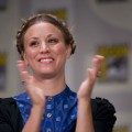Kaley Cuoco speaks on stage during day two of Comic-Con 2011 held at the San Diego Convention Center on July 22, 2011