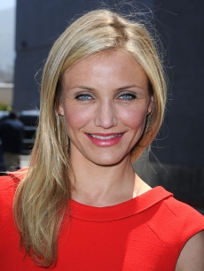 "Cameron Diaz arrives at the premiere of ""Shrek Forever After"" at Gibson Amphitheatre on May 16, 2010 in LA"