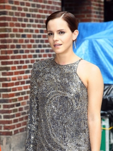 "Emma Watson glams it up for the ""Late Show With David Letterman"" at the Ed Sullivan Theater in New York City on July 11, 2011"