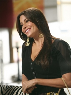 "Sofia Vergara portrays Gloria Delgado-Pritchett in a scene from the comedy series ""Modern Family."""
