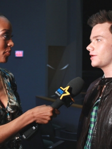 Chris Colfer chats with Access Hollywood's Shaun Robinson on July 14, 2011