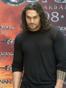 "Jason Momoa is seen at the ""Conan The Barbarian"" photocall at the Villamagna Hotel in Madrid on July 18, 2011"