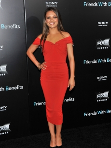 "Mila Kunis shines at the ""Friends with Benefits"" premiere in New York City on July 18, 2011"