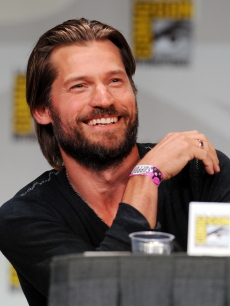 "Nikolaj Coster-Waldau speaks at HBO's ""Game Of Thrones"" panel during Comic-Con 2011 in San Diego on July 21, 2011"