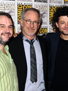 Peter Jackson, Steven Spielberg and Andy Serkis attend &#8220;The Adventures of Tintin&#8221; during Comic-Con 2011 in San Diego, Calif. on July 22, 2011