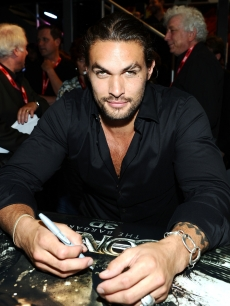 "Jason Momoa attends a ""Conan the Barbarian"" autograph signing during Comic-Con 2011, San Diego, on July 22, 2011"