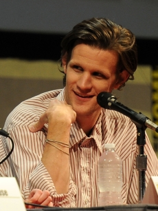 "Matt Smith arrives at the ""Dr. Who"" panel during Comic-Con at the San Diego Convention Center in San Diego, Calif., on July 24, 2011"