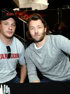 "Tom Hardy and Joel Edgerton appear at the ""Warrior"" autograph signing at the Lionsgate booth during Comic-Con 2011, San Diego, on July 22, 2011"