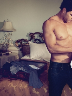 Kellan Lutz models for the Dylan George and Abbot + Main by Dylan George Fall 2011 campaign