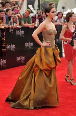 Emma Watson attends the New York premiere of &#8220;Harry Potter and The Deathly Hallows &#8212; Part 2&#8221; at Avery Fisher Hall, Lincoln Center, New York City, on July 11, 2011