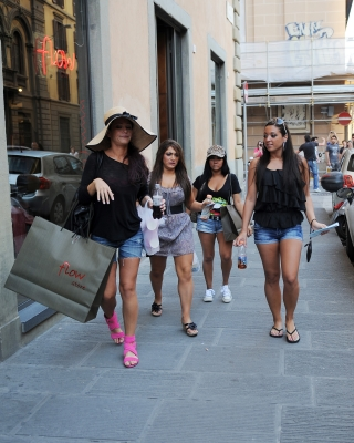 The ladies of the &#8220;Jersey Shore&#8221; step out in Italy