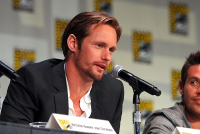 Alexander Skarsgard speaks at HBO&#8217;s &#8216;True Blood&#8217; Panel during Comic-Con 2011 at the San Diego Convention Center on July 22, 2011