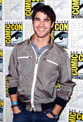 "Darren Criss arrives at the ""Glee"" press line during Comic-Con at the San Diego Convention Center in San Diego, Calif., on July 24, 2011"